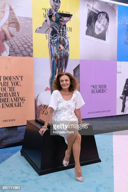 President Diane von Furstenberg attends the 2017 CFDA Fashion Awards Cocktail Hour at Hammerstein Ballroom on June 5 2017 in New York City
