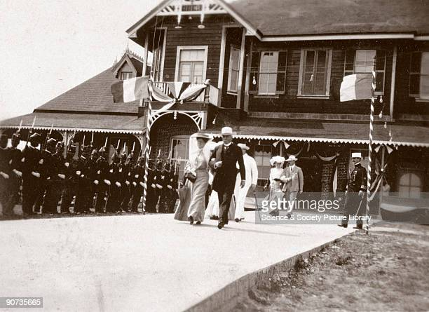 President Diaz passing a guard of honour during his visit to the Isthmus of Tehuantepec Mexico in 1905 President Porfirio Diaz ruled Mexico...
