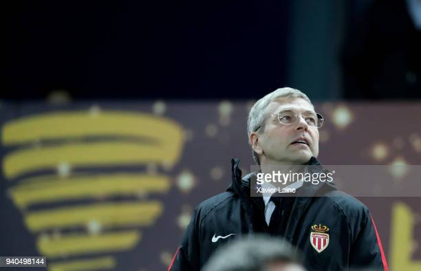 President Dmitri Rybolovlev of AS Monaco attends the League Cup Final match between Paris SaintGermain and AS Monaco at Matmut Arena on March 31 2018...