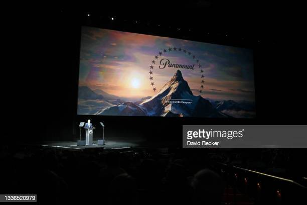 President, Domestic Distribution at Paramount Pictures Chris Aronson speaks onstage at CinemaCon 2021 Paramount Pictures Invites You to an Exclusive...