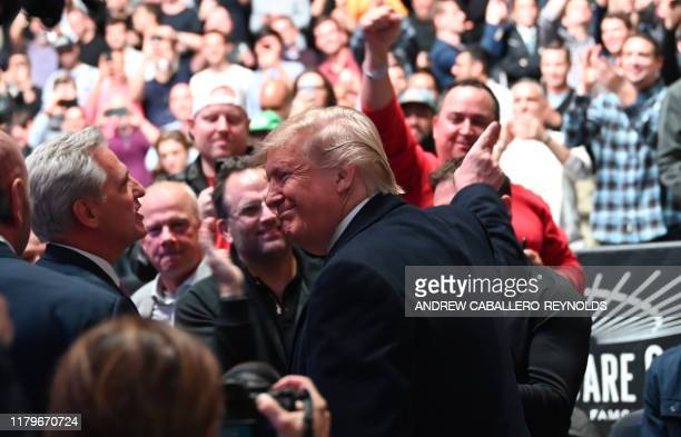 US President Donald attends the Ultimate Fighting Championship at Madison Square Garden in New York City New York on November 2 2019