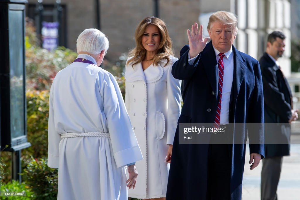 DC: President Trump Attends Church Services on St. Patrick's Day