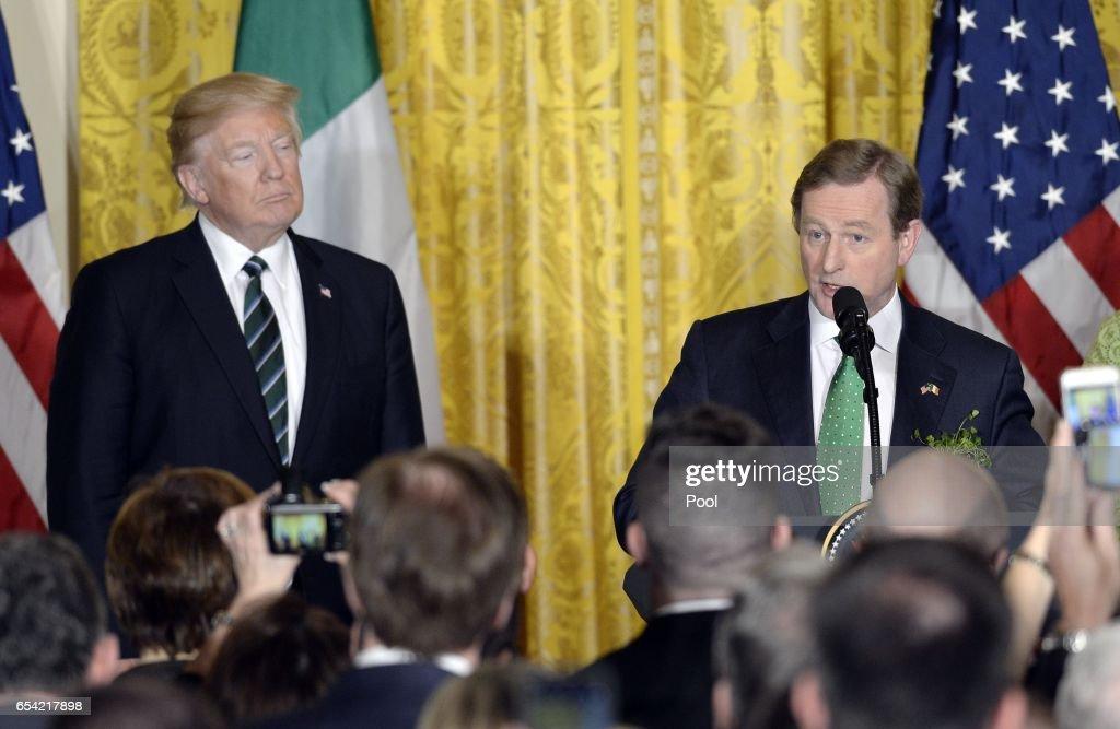President Trump Hosts Reception For Irish PM : News Photo