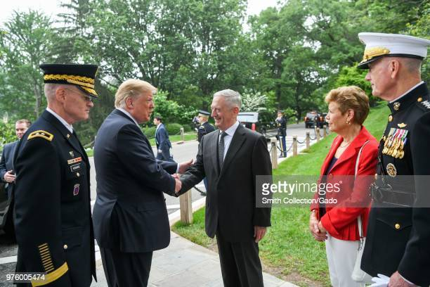 President Donald J Trump, Secretary of Defense James N Mattis and Chairman of the Joint Chiefs of Staff Marine Gen Joseph F Dunford Jr Memorial Day...