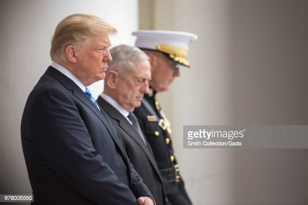 President Donald J Trump Secretary of Defense James N Mattis and Chairman of the Joint Chiefs of Staff Marine Gen Joseph F Dunford Jr Memorial Day...
