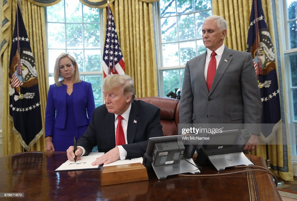 President Trump Signs Executive Order Ending Family Separations At Border