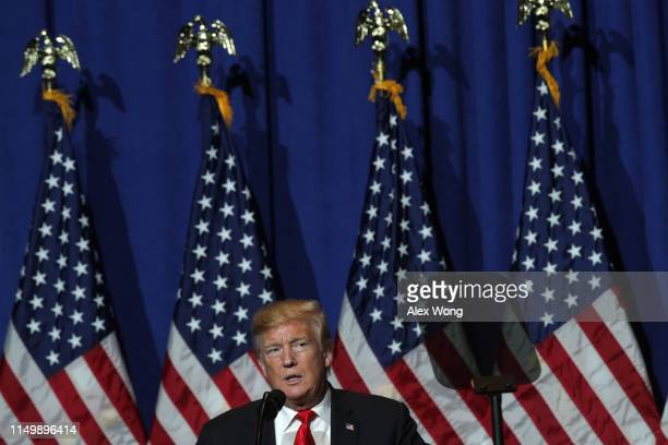 S President Donald Trump addresses the National Association of Realtors Legislative Meetings Trade Expo May 17 2019 in Washington DC President Trump...