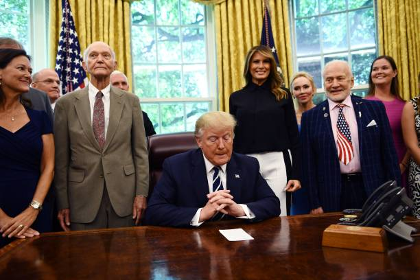 DC: President Trump And First Lady Melania Commemorate The 50th Anniversary Of The Apollo 11 Moon Landing