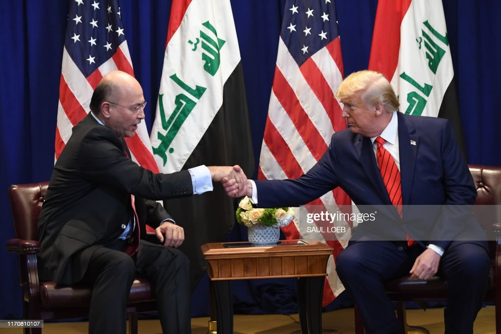 US-IRAQ-DIPLOMACY-TRUMP-ABDUL-MAHDI : News Photo