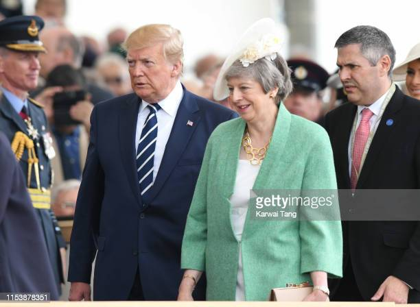 President Donald Trump and British Prime Minister Theresa May attend the D-Day75 National Commemorative Event to mark the 75th Anniversary of the...