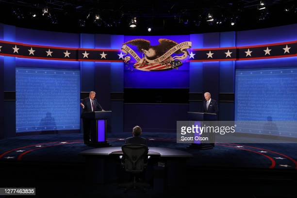 President Donald Trump and Democratic presidential nominee Joe Biden participate in the first presidential debate moderated by Fox News anchor Chris...