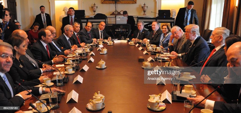 Donald Trump and Egypt's el-Sisi meet in Washington : News Photo