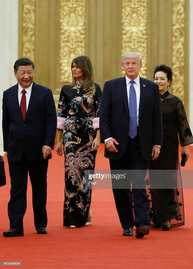 U.S. President Trump Visits China : News Photo