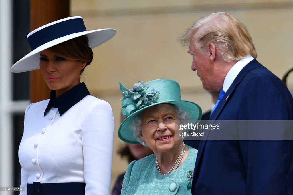 U.S. President Trump's State Visit To UK - Day One : News Photo