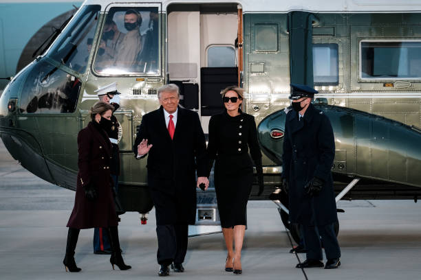 MD: President Trump Departs For Florida At The End Of His Presidency