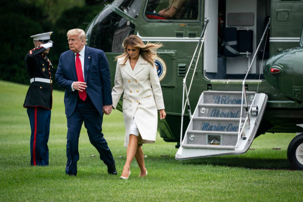 DC: President Trump Returns To The White House On Memorial Day