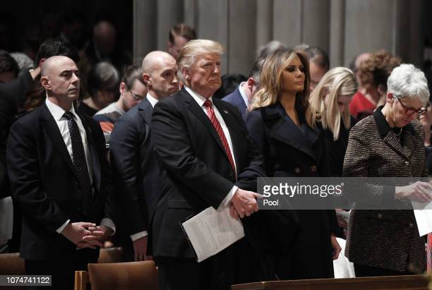 S President Donald Trump and first lady Melania Trump attend Christmas Eve services at the National Cathedral on December 24 2018 in Washington DC