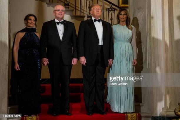 President Donald Trump and First Lady Melania Trump, Australian Prime Minister Scott Morrison, and Australian First Lady Jennifer Morrison are...