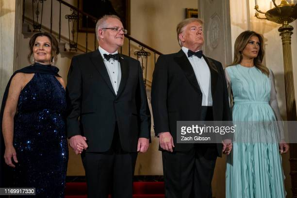 S President Donald Trump and First Lady Melania Trump Australian Prime Minister Scott Morrison and Australian First Lady Jennifer Morrison are...