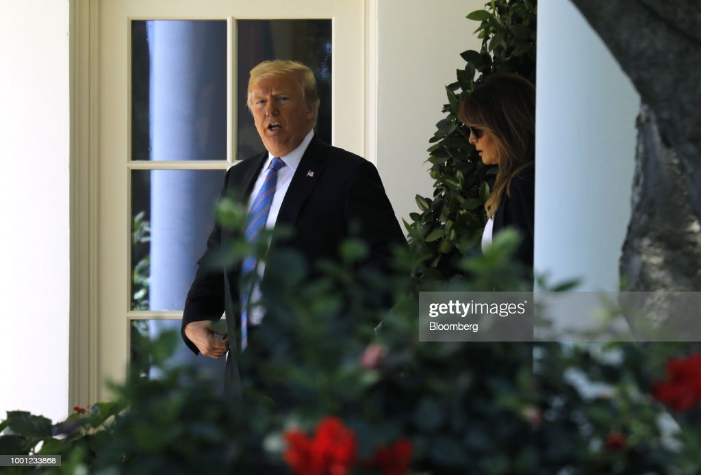 President Trump And First Lady Melania Depart White House For Joint Airforce Base Andrews