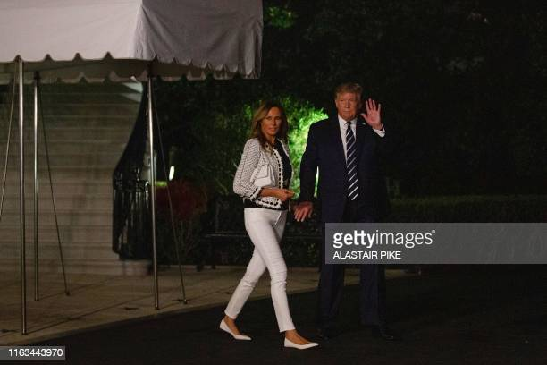 US President Donald Trump and First Lady Melania Trump depart the White House in Washington DC on August 23 for the G7 Summit in France