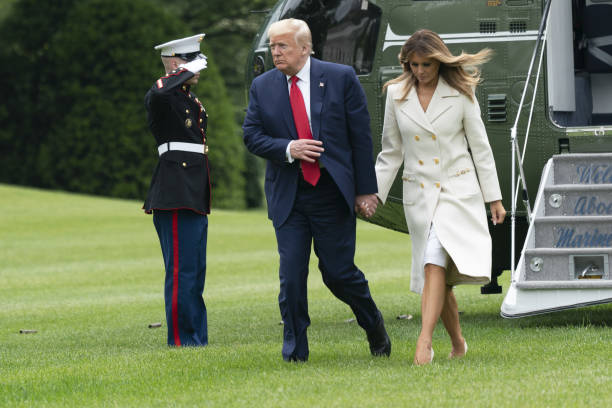DC: President Trump Returns To The White House After Travel To Maryland
