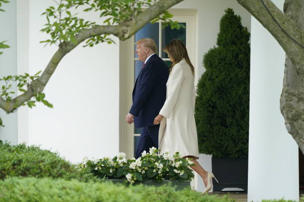 DC: President Trump Departs White House For Arlington National Cemetery