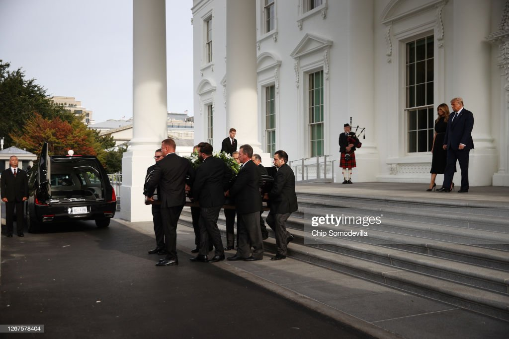Funeral Held For President Trump's Brother Robert At The White House : News Photo