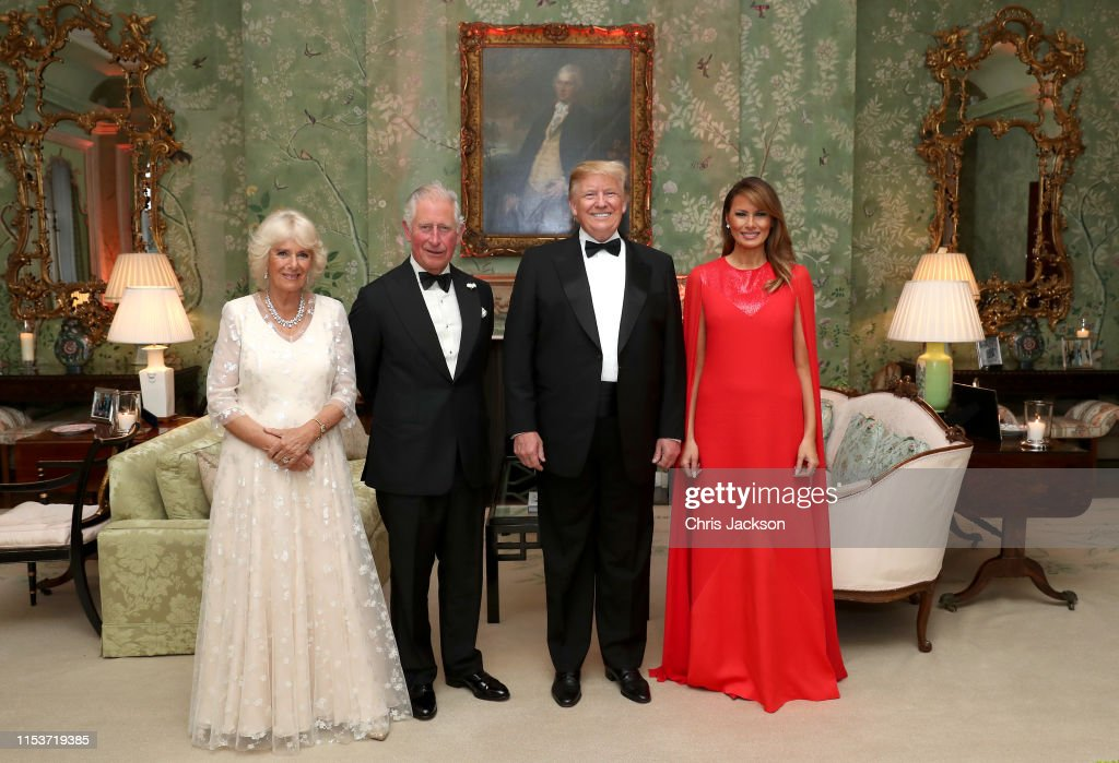 U.S. President Trump's State Visit To UK - Day Two : News Photo