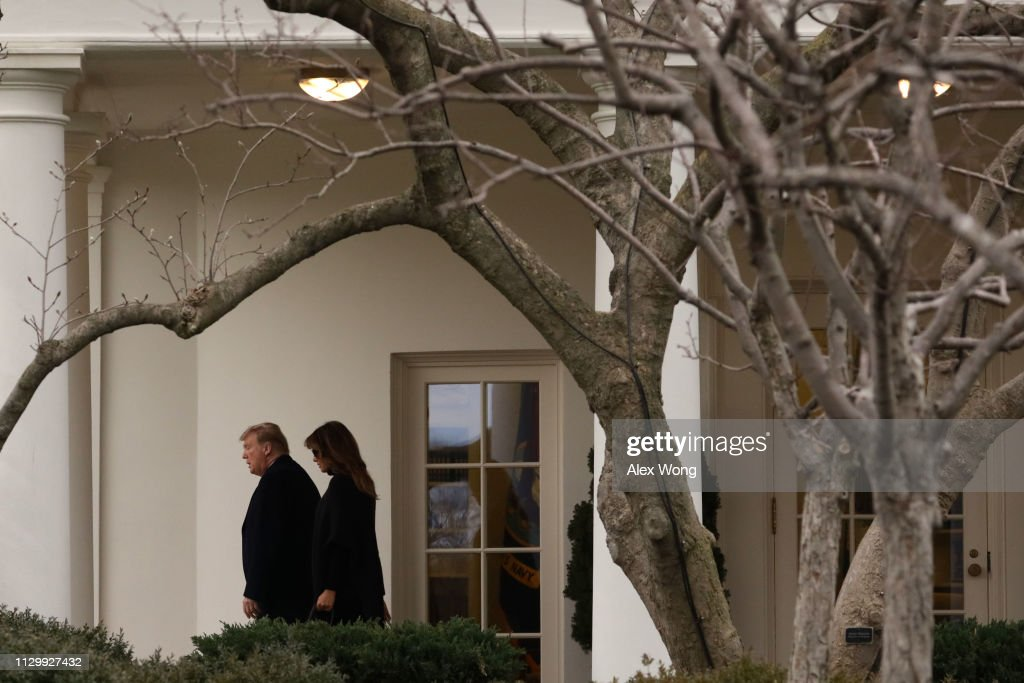 DC: President Trump Departs The White House En Route To Palm Beach, Florida