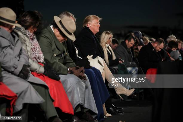 President Donald Trump and first lady Melania Trump participate in the National Christmas Tree lighting ceremony held by the National Park Service at...