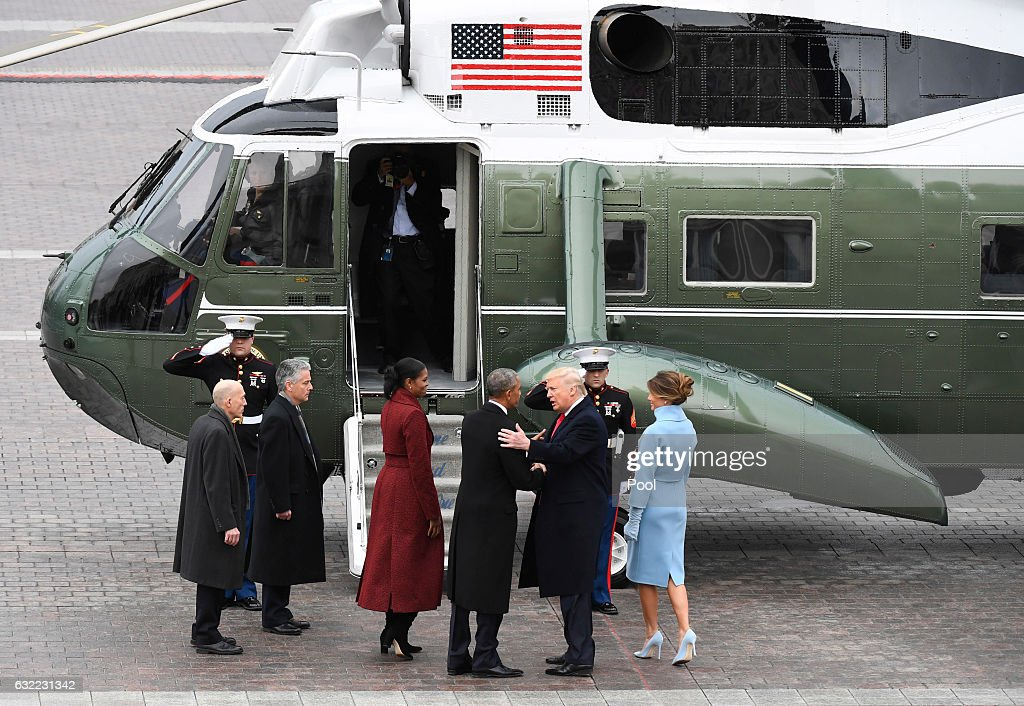 Donald Trump Is Sworn In As 45th President Of The United States : News Photo