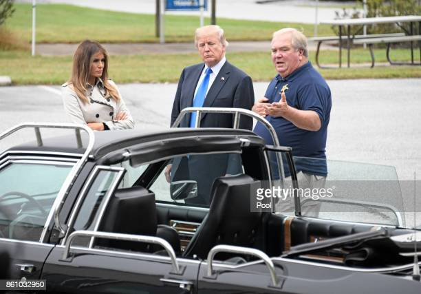 President Donald Trump and first lady Melania Trump tour the U.S. Secret Service James J. Rowley Training Center on October 13, 2017 in Beltsville,...