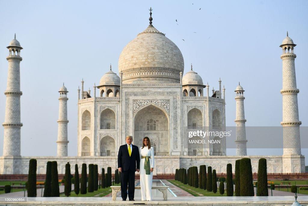 TOPSHOT-INDIA-US-DIPLOMACY-TRUMP : News Photo