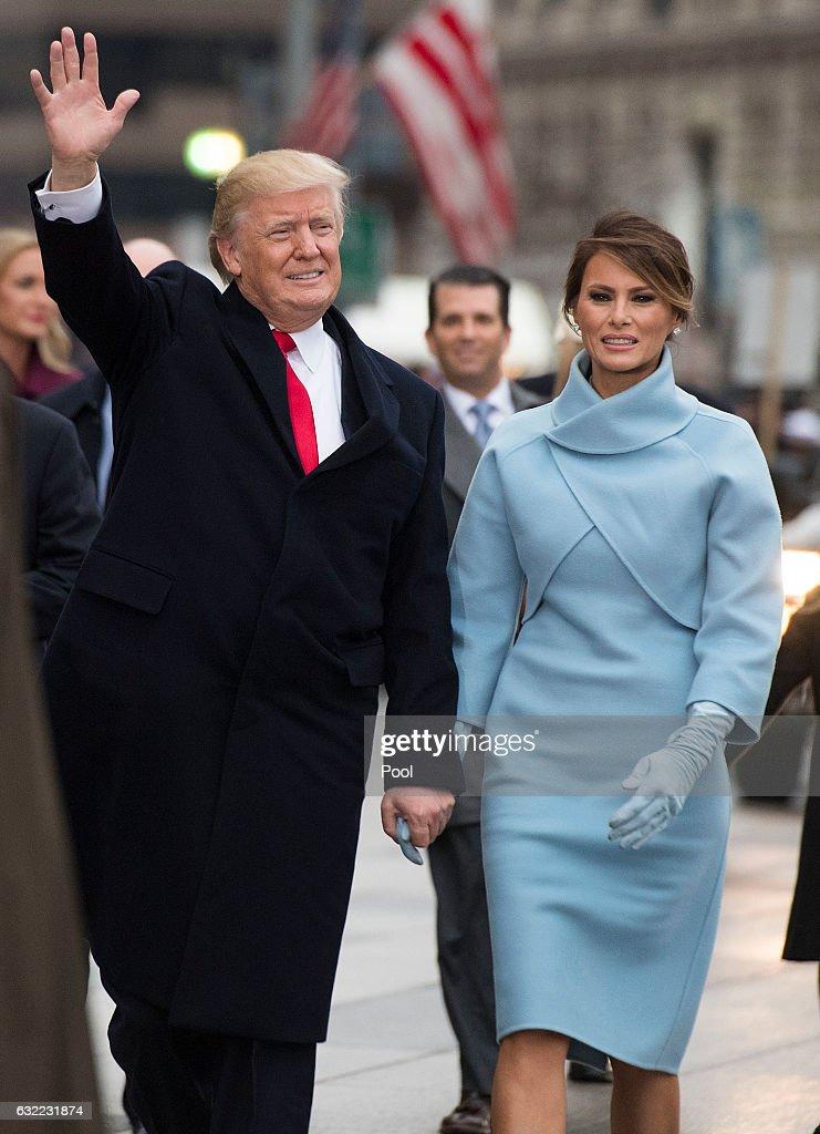 Parade Celebrates Presidential Inauguration Of Donald Trump : News Photo