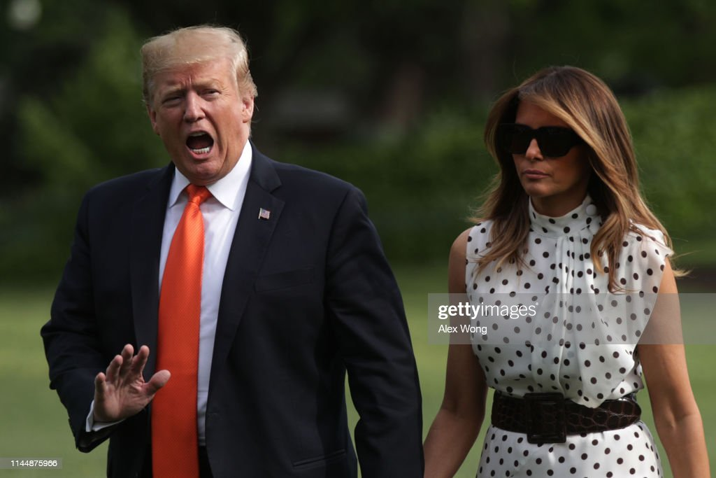 DC: President Trump And First Lady Return To The White House From Drug Abuse Summit In Atlanta