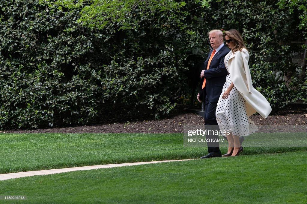 DC: President Trump And First Lady Depart White House For Atlanta