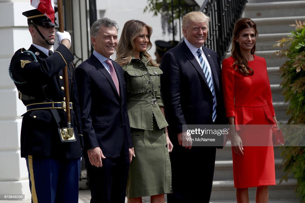 President Trump Welcomes President Of Argentina Mauricio Macri To The White House