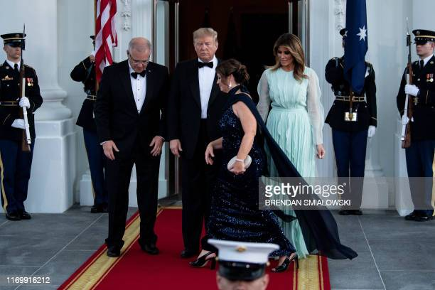 US President Donald Trump and First Lady Melania Trump welcome Australian Prime Minister Scott Morrison and wife Jenny Morrison for an Official Visit...