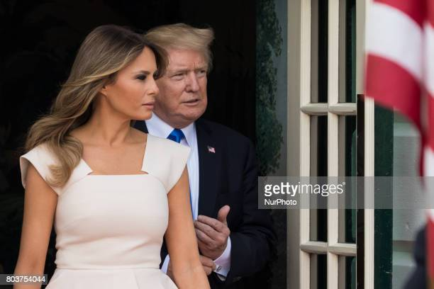 President Donald Trump and First Lady Melania Trump welcomed President Moon and his wife Kim Jeongsuk of the Republic of Korea at the South Portico...