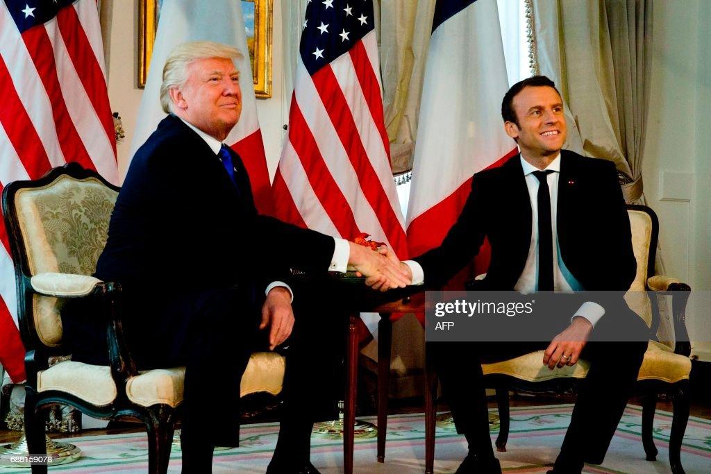 BELGIUM-US-FRANCE-NATO-DEFENCE-POLITICS-DIPLOMACY-MEETING : News Photo