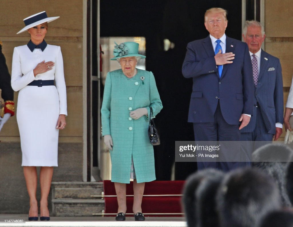 President Trump state visit to UK - Day One : News Photo