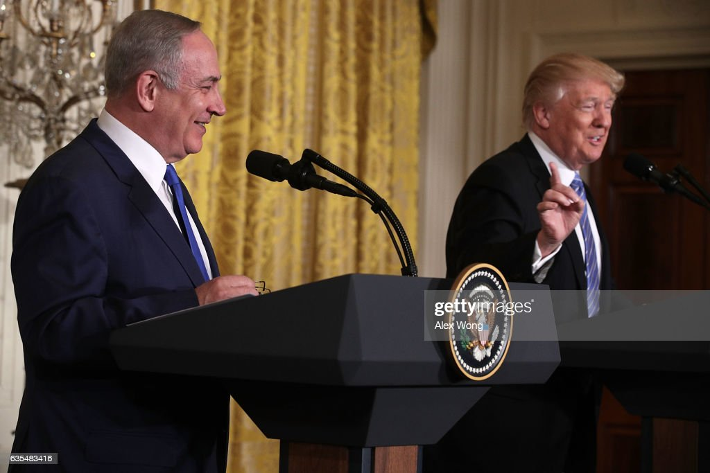 Donald Trump Holds Joint Press Conference With Israeli PM Netanyahu : News Photo