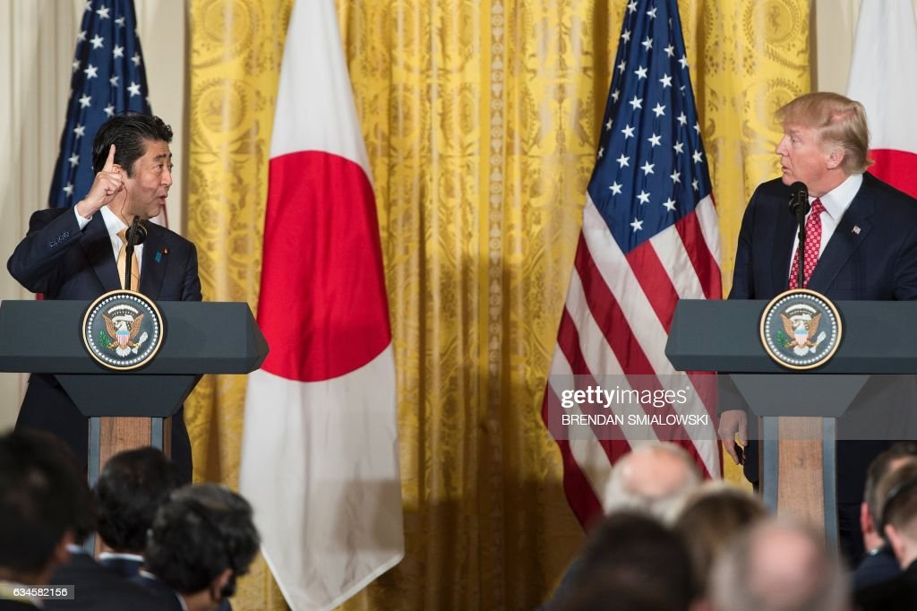 US-JAPAN-TRUMP-ABE-CONFERENCE : News Photo