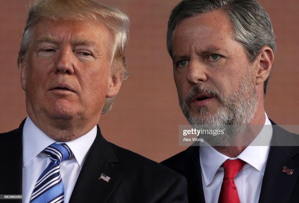 Donald Trump Delivers Commencement Address At Liberty University : News Photo