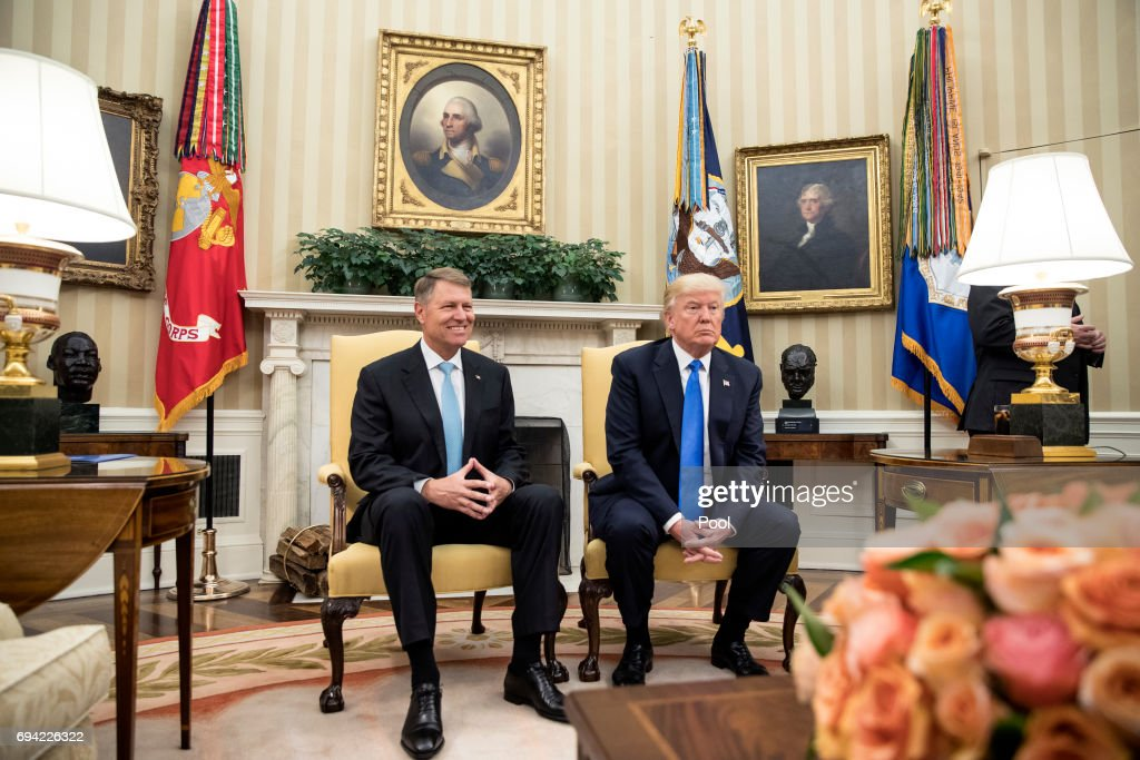 Trump Welcomes President Of Romania Klaus Iohannis To The White House