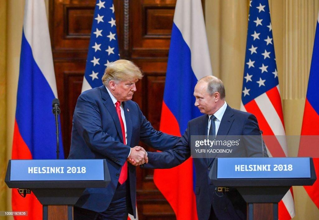 FINLAND-US-RUSSIA-POLITICS-DIPLOMACY-SUMMIT : News Photo