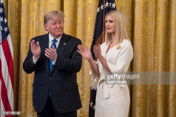 President Donald Trump and Senior Advisor to President Trump Ivanka Trump participate in the White House Summit on Human Trafficking The 20th...
