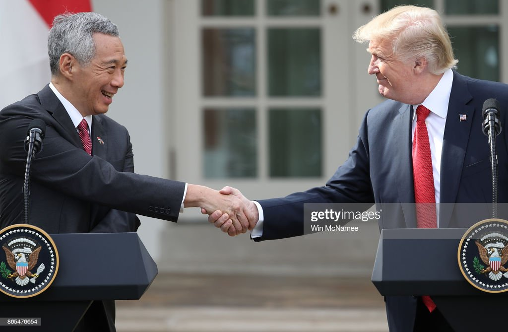 President Trump And Singapore PM Loong Give Joint Statements At White House