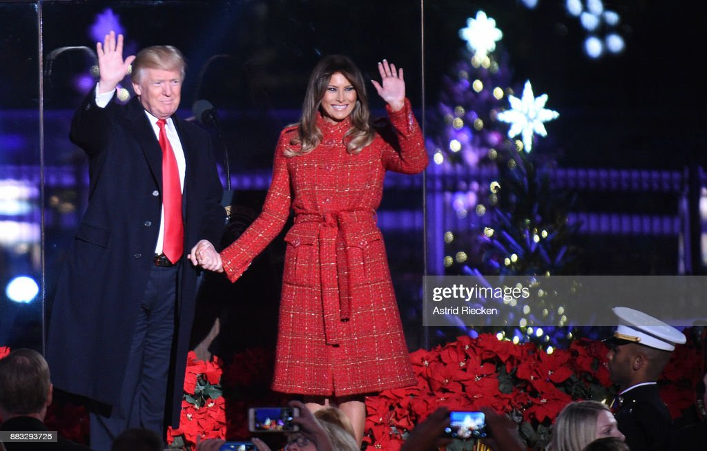 President Donald Trump and the first lady Melania Trump attend the 95th annual National Christmas Tree Lighting held by the National Park Service at the White House Ellipse in Washington, D.C., November 30, 2017. The Beach Boys, Wynonna, The Texas Tenors, Craig Campbell were among the artists who provided the entertainment.